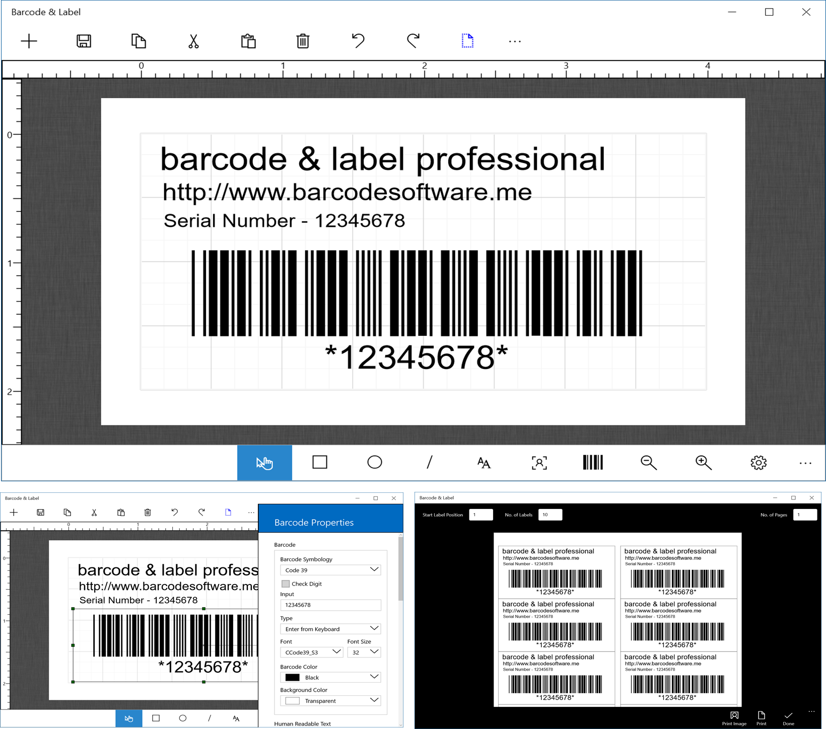 bar code image. Barcode Software
